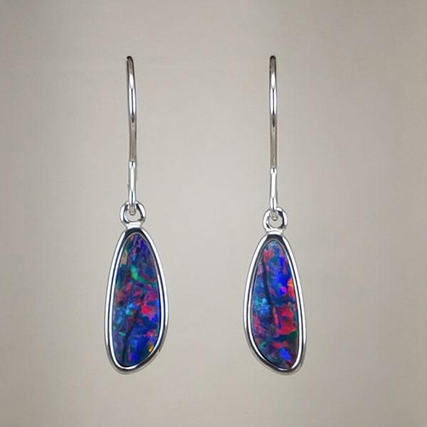 Australian Opal Earrings in 925 Sterling Silver