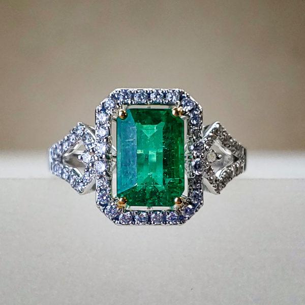 EFFY Signature 1.81ct Emerald-cut Emerald in 18K White Gold