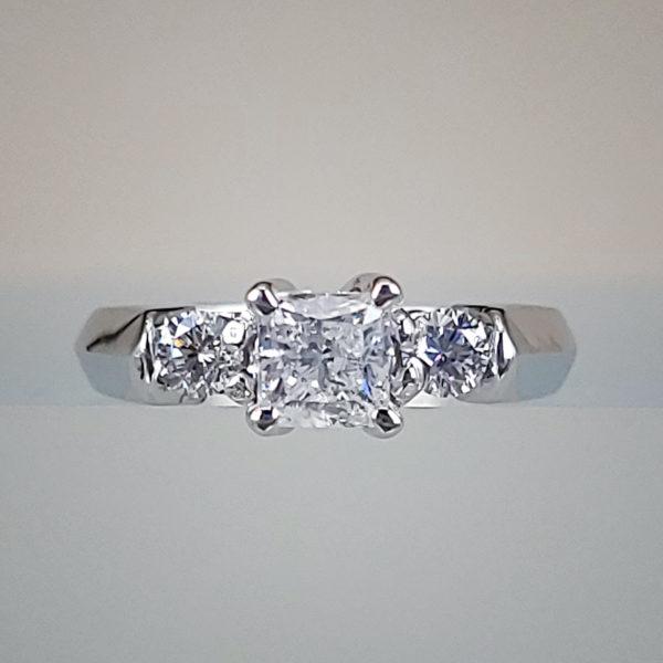 3/4 Carat 3 Stone Diamond Engagement Ring