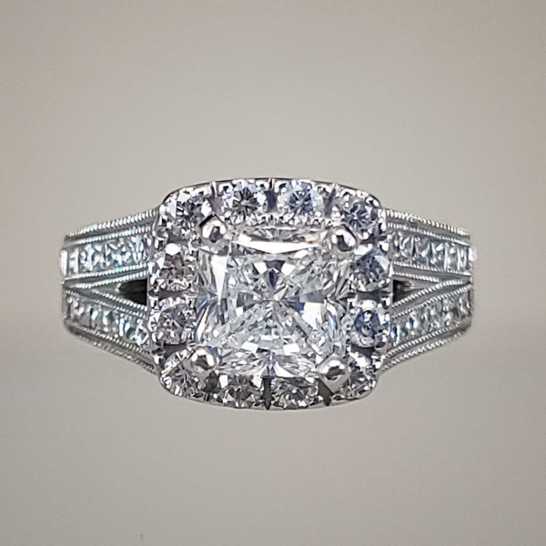 2.5 Carat Radiant-Cut Diamond Engagement Ring