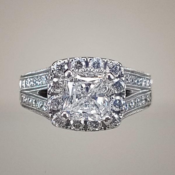 2.5 Carat Radiant-Cut Diamond Engagement Ring