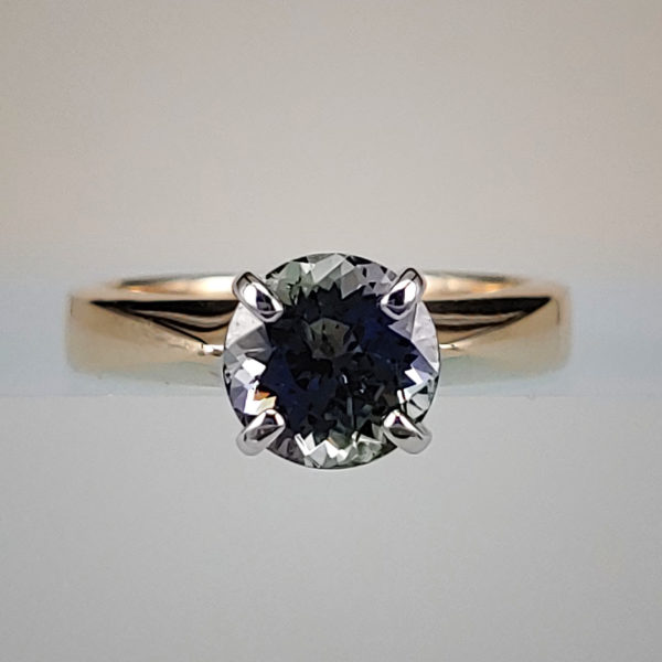 Tanzanite Solitaire Center Stone Ring in 14K Yellow Gold Setting