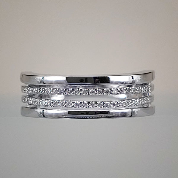 1/4 CTW Stacked Diamonds Wedding Band Engagement Ring
